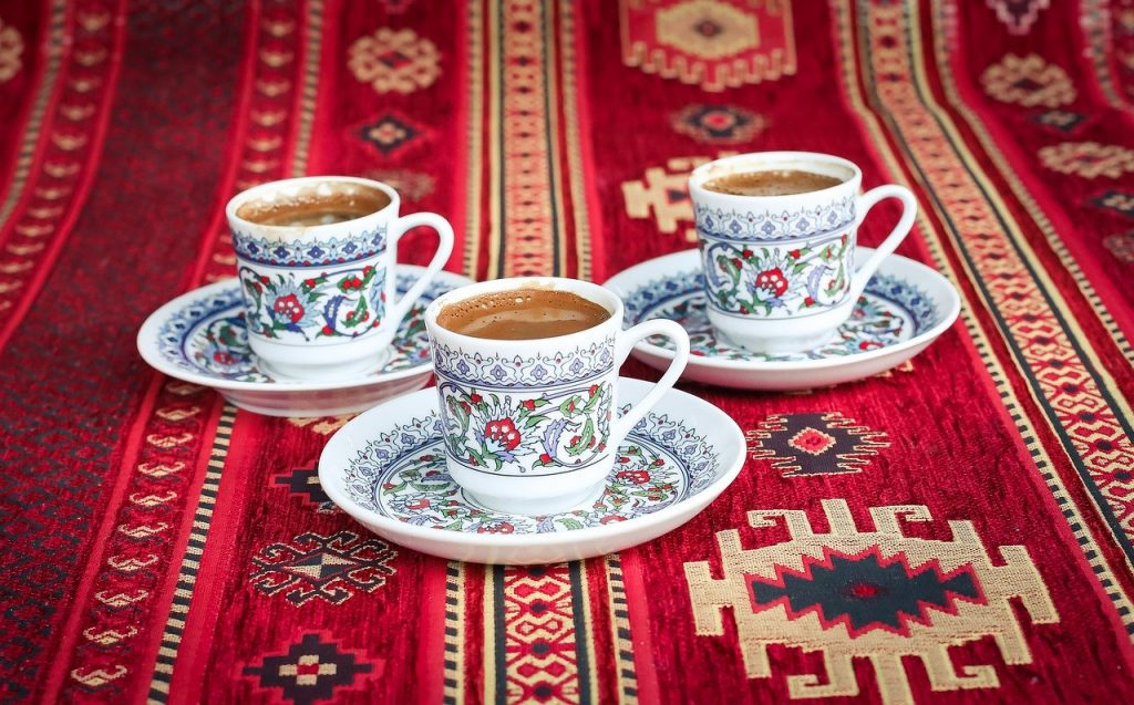 Turkish coffee. Coffee has never been so good. Grind the coffee very finely.